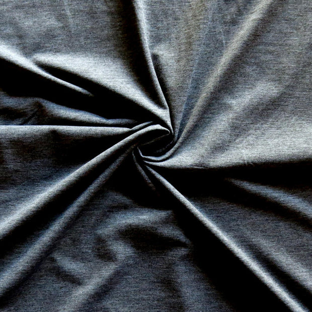 Charcoal Heather Dry Flex Poly Spandex Jersey Knit Fabric