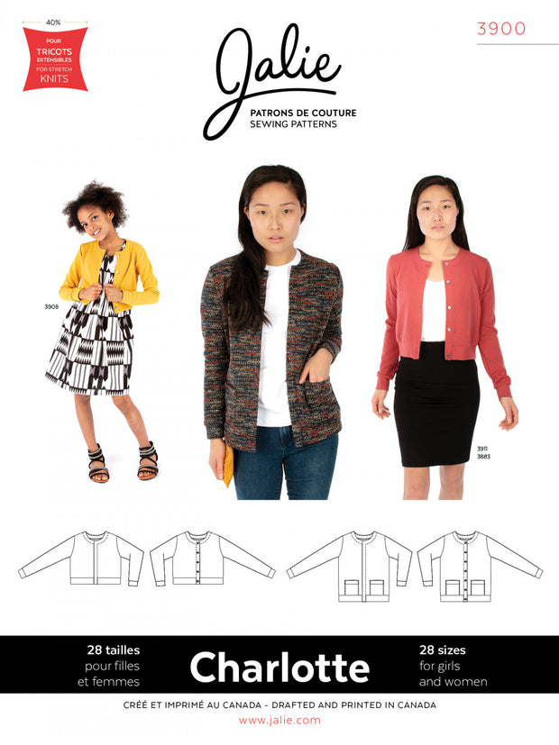 Charlotte Cardigan Sewing Pattern by Jalie