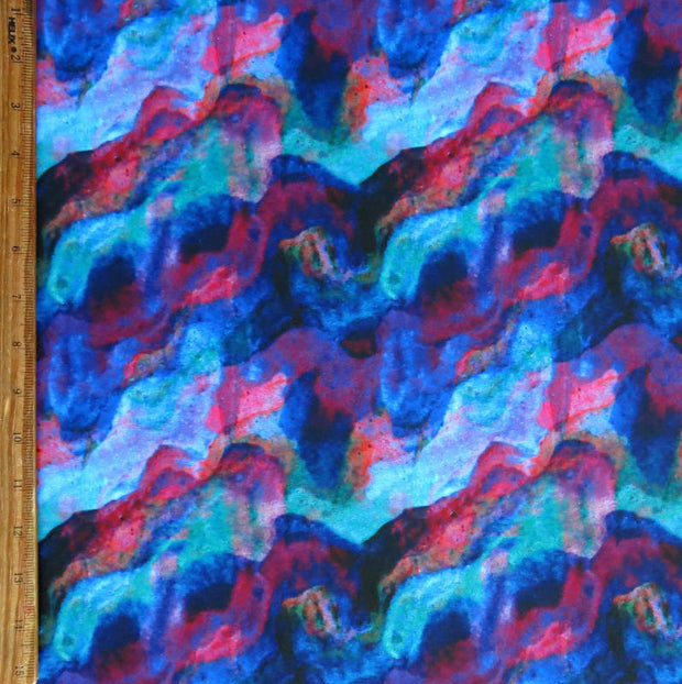 Colorful Current Nylon Spandex Swimsuit Fabric, Cool Colorway