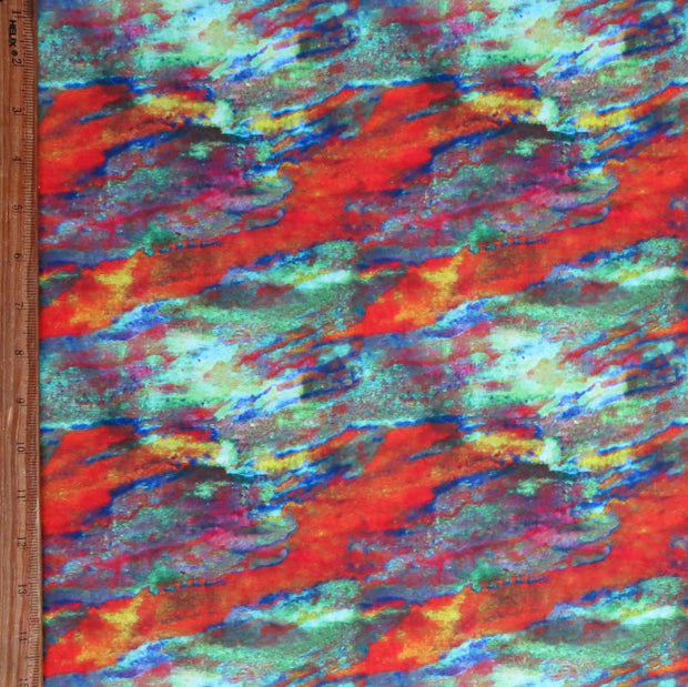 Colorful Current Nylon Spandex Swimsuit Fabric, Warm Colorway