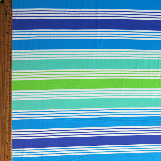 Cool Cabana Stripe Nylon Spandex Swimsuit Fabric