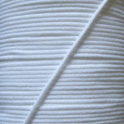 3mm Wide White Soft Stretch Mask String