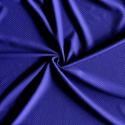 Court Purple Dri-Fit Hexagon Jacquard Lycra Jersey Knit Fabric