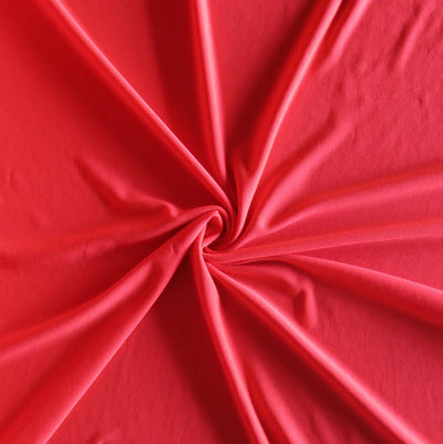 Dark Coral Swimsuit Lining Fabric