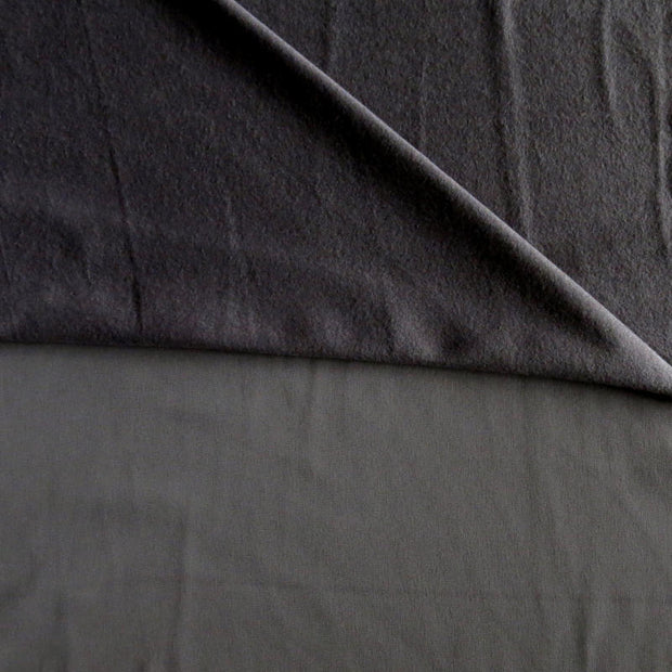 Charcoal Softshell Fleece Fabric