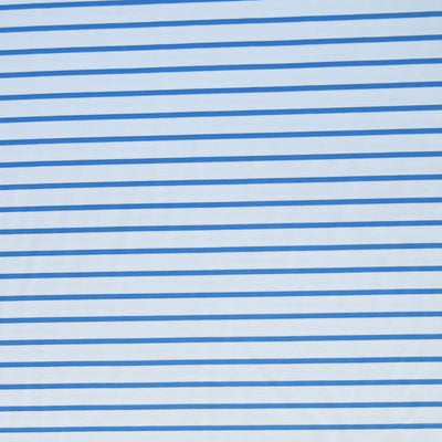 Denim Blue and White Stripe Nylon Spandex Swimsuit Fabric