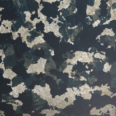 Distressed Dark Green Camo Poly Spandex Swimsuit Fabric