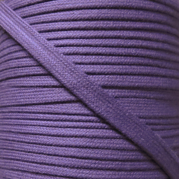 Grape Purple 3/8 Cotton Hoodie Drawstring Flat Tape