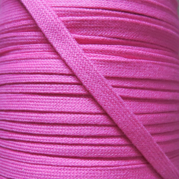 Hot Pink 3/8 Cotton Hoodie Drawstring Flat Tape