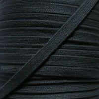 Black 3/8 Cotton Hoodie Drawstring Flat Tape