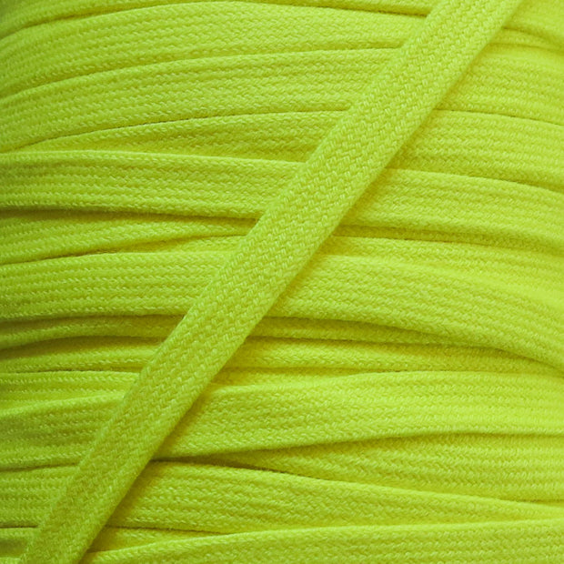 Bright Yellow 3/8 Cotton Hoodie Drawstring Flat Tape
