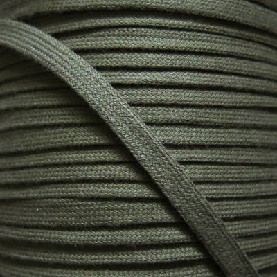 Olive Green 3/8 Cotton Hoodie Drawstring Flat Tape