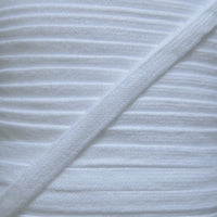 White 3/8 Cotton Hoodie Drawstring Flat Tape