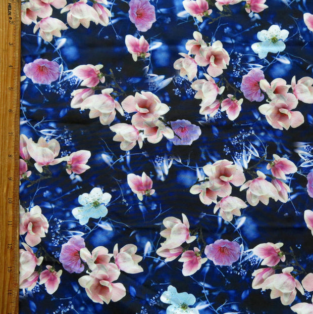 Dreamy Floral Flow Stretch Boardshort Fabric