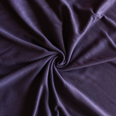 Eggplant Cotton Interlock Fabric