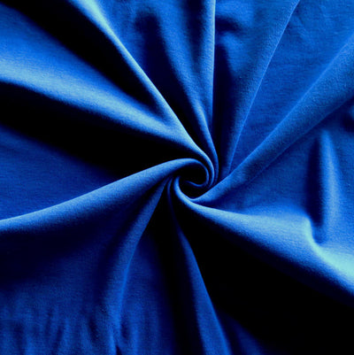Evening Blue Cotton Heavy Rib Knit Fabric