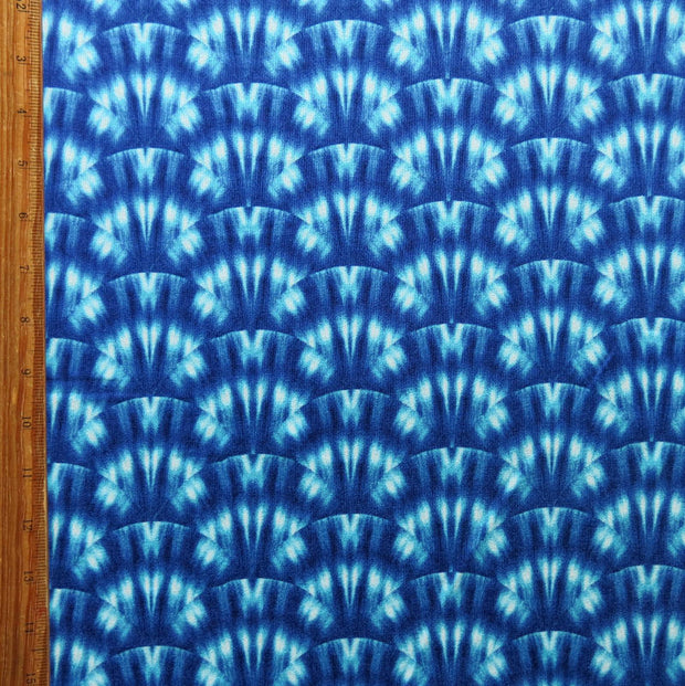 Fanned Tie Dye Poly Spandex Knit Fabric
