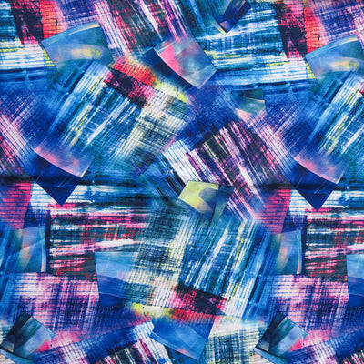 Modern Abstract Style Flow Stretch Boardshort Fabric