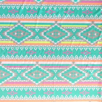 Fluorescent Aztec Nylon Spandex Swimsuit Fabric