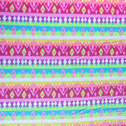 Fluorescent Diamond Stripes Cotton Knit Fabric