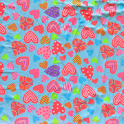 Fluorescent Hearts Nylon Spandex Swimsuit Fabric