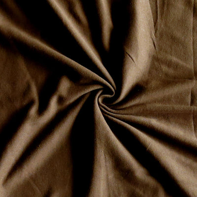 Fudgey Brown Cotton Rib Knit Fabric