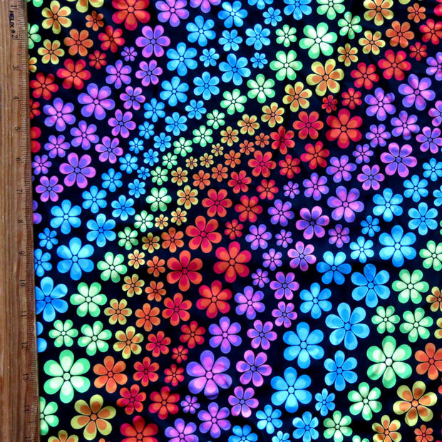 Groovy Flowers Nylon Spandex Swimsuit Fabric