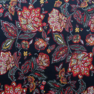 Harvest Floral Poly Spandex Knit Fabric