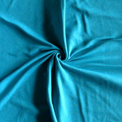 Heathered Teal Poly Lycra Jersey Knit Fabric