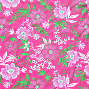 Hot Pink/Lime Floral Nylon Spandex Swimsuit Fabric
