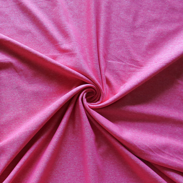 Hot Pink Marl Nylon Poly Spandex Knit Fabric