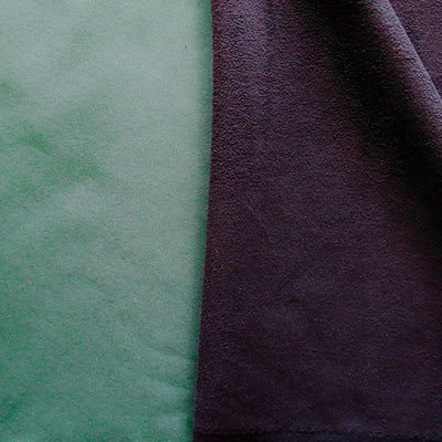 Hunter/Black Softshell Fleece Fabric