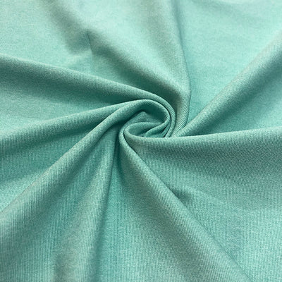 Dharma Heathered Jade Green Poly Spandex Athletic Jersey Knit Fabric