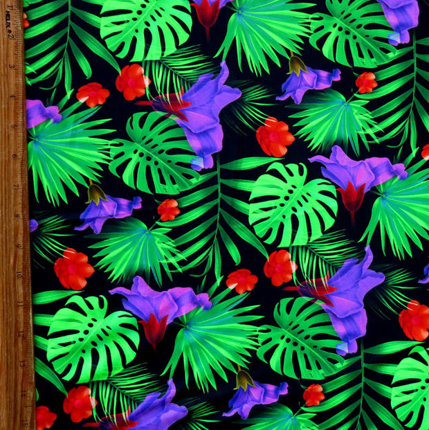 Jungle Nylon Spandex Swimsuit Fabric