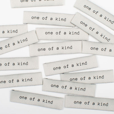 """One of a Kind"" 8 Pack Woven Labels by Kylie and the Machine"