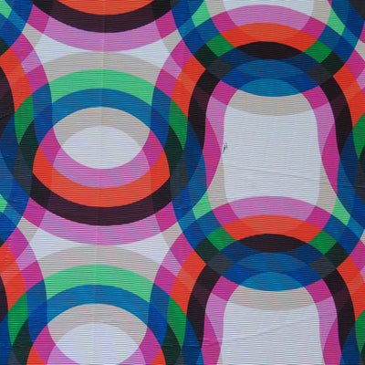 Kaleidoscope Ribbed Nylon Spandex Swimsuit Fabric