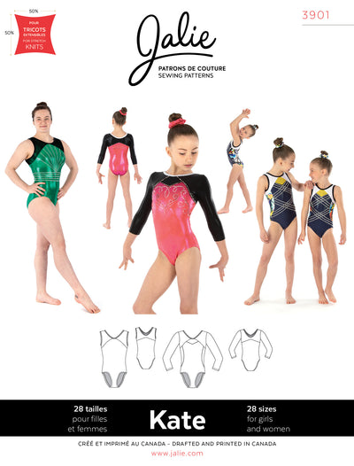 Kate Gymnastics Leotards Sewing Pattern by Jalie