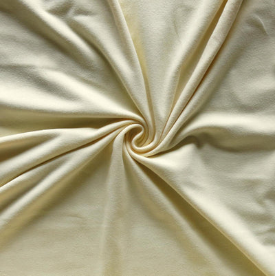 Light Yellow 10 oz. Cotton Lycra Jersey Knit Fabric