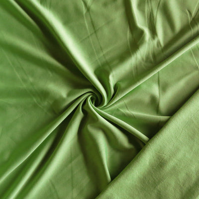 Lime Poly Lycra Fleece Back Knit Fabric