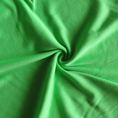 Lime Green 2x1 Cotton Rib Knit Fabric
