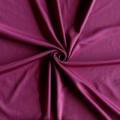 Team Maroon Diamond Poly Spandex Tricot Fabric