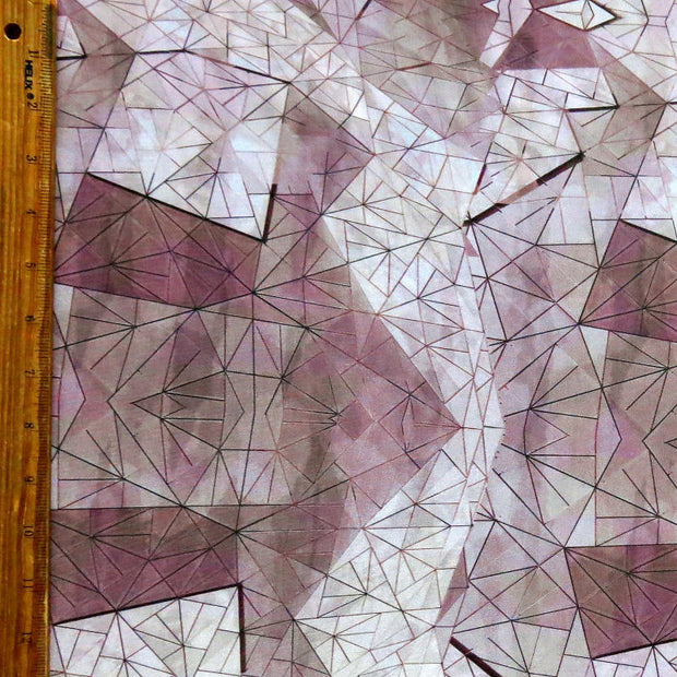 Mauve Geo Nylon Spandex Swimsuit Fabric