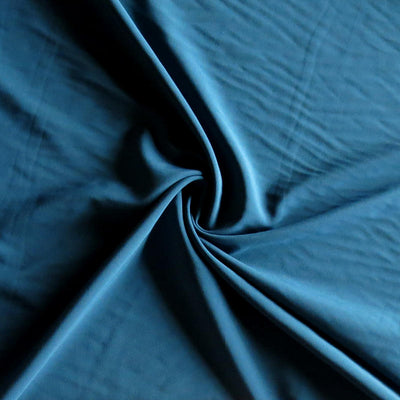 Medium Teal Blue Stretch Woven Fabric