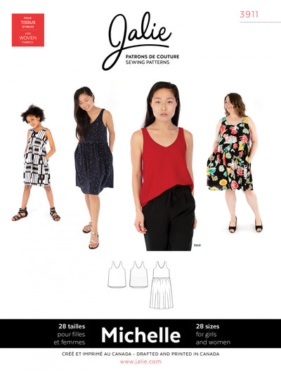Michelle Tanks and Dress Sewing Pattern by Jalie