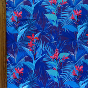Midnight Tropical Nylon Spandex Swimsuit Fabric