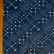 Navy/White Bias Abstract Nylon Spandex Swimsuit Fabric