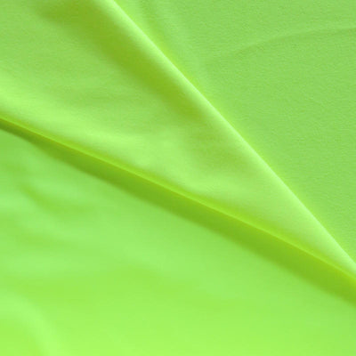Neon Yellow Softshell Fleece Fabric