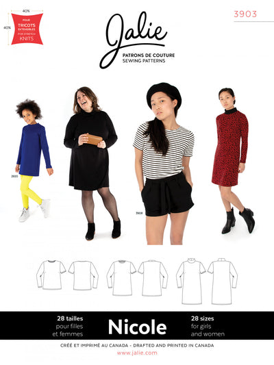 Nicole Shift Dress, Tunic and Tee Sewing Pattern by Jalie