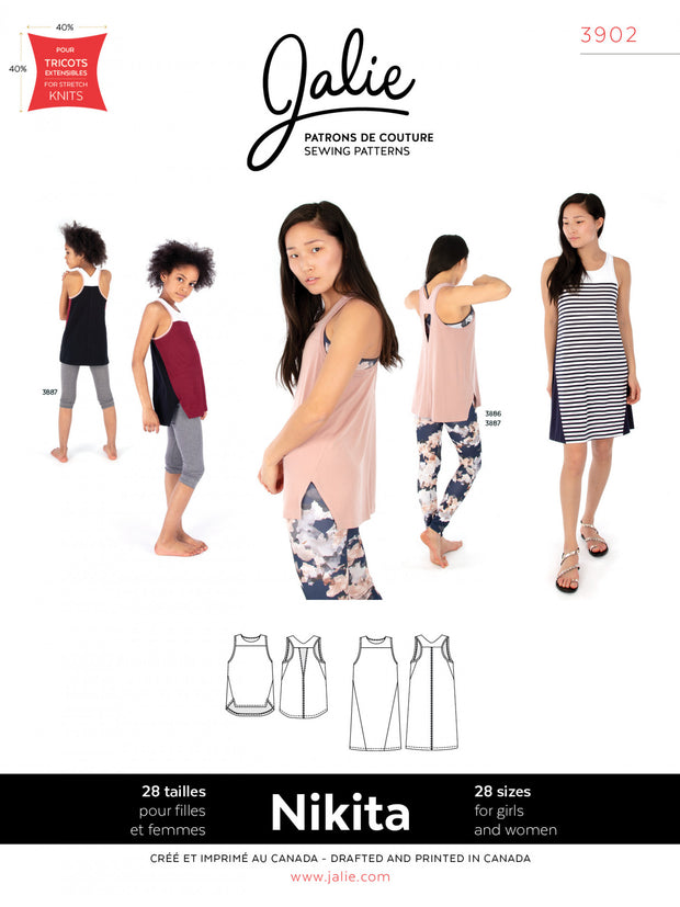Nikita Workout Tank and Swing Dress Sewing Pattern by Jalie