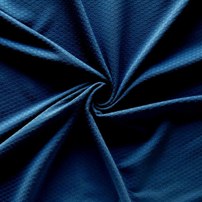 Obsidian Dri-Fit Bubble Jacquard Poly Spandex Mesh Fabric